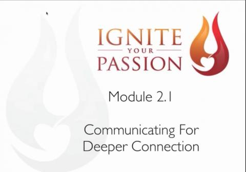 Ignite Your Passion - Module 2.1